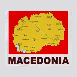 macedonia map Throw Blanket