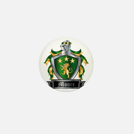 MOORE COAT OF ARMS FAMILY CREST Mini Button