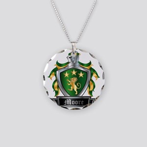MOORE COAT OF ARMS FAMILY CR Necklace Circle Charm