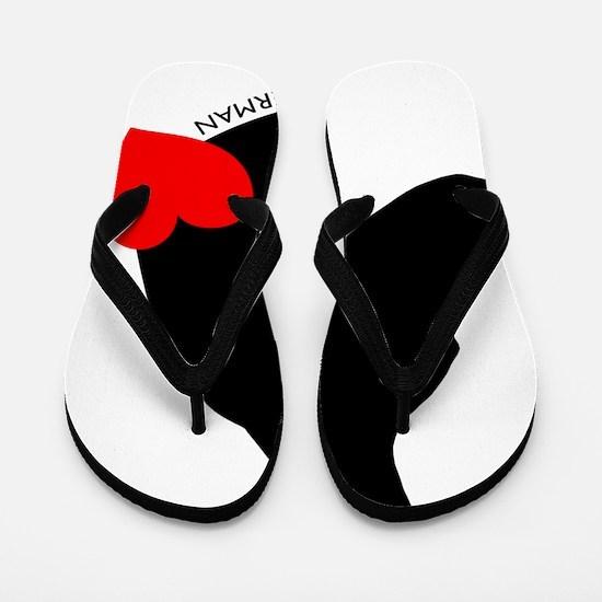 heartsilhouette Flip Flops