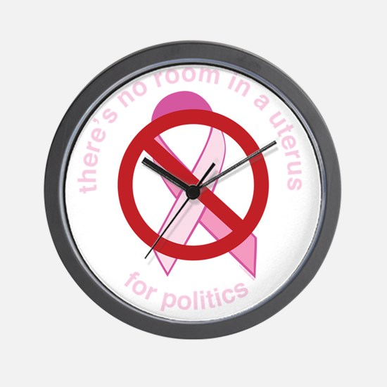 Pro_Choice_UtePinkRndBLK_9x9 Wall Clock