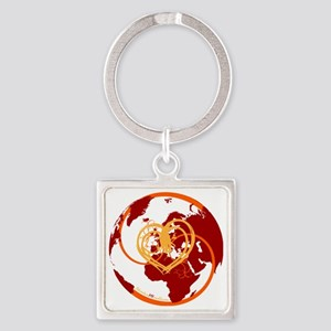 I Heart Adventure - Red Square Keychain