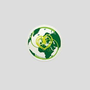 I heart Adventure - Green Mini Button