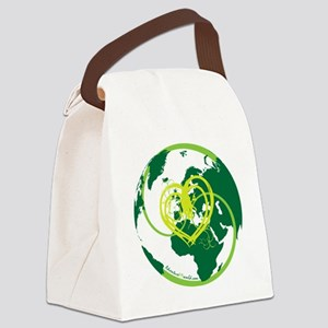 I heart Adventure - Green Canvas Lunch Bag