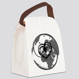 I heart Adventure - White Canvas Lunch Bag