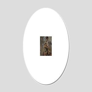 Bass_man 20x12 Oval Wall Decal
