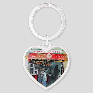 Espresso Vivace Heart Keychain