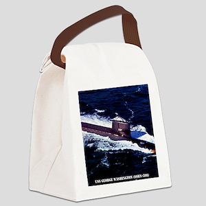gwashington framed panel print Canvas Lunch Bag