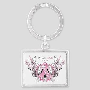 I Wear Pink for my Friend Landscape Keychain