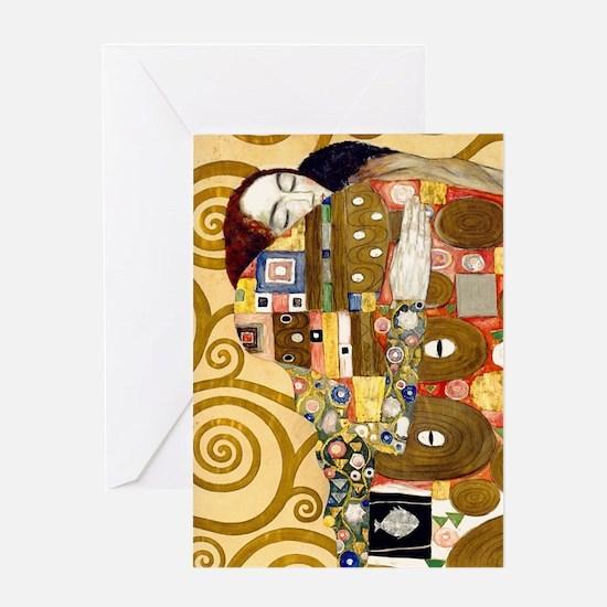 K/N Klimt Ful Greeting Card