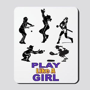 PLAY LIKE A GIRL Mousepad