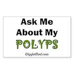 Polyps Rectangle Sticker