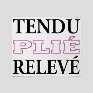 tendu_pink_outline Throw Blanket