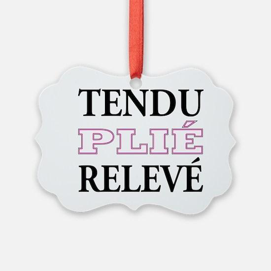 tendu_pink_outline Ornament