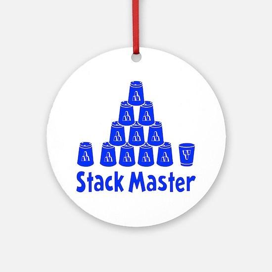 blue2, Stack Master 1, ck retro sha Round Ornament