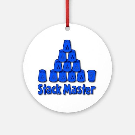 blue, Stack Master 1, ck retro shad Round Ornament