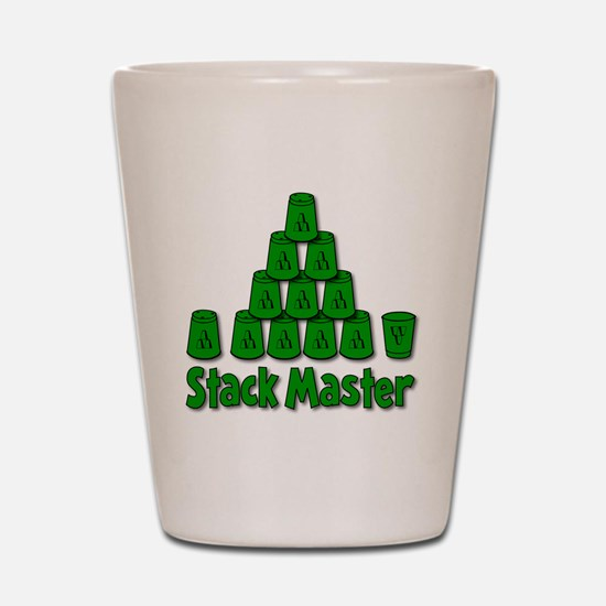 green, Stack Master 1, ck retro shadowe Shot Glass