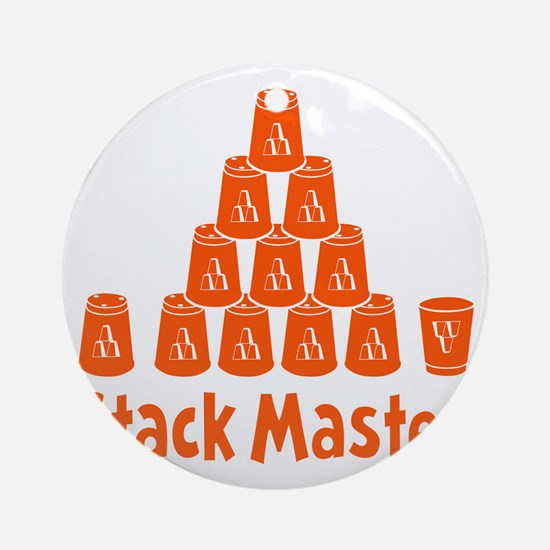 orange2, Stack Master 1, ck retro s Round Ornament