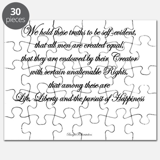Life, Liberty and the Pursuit of Happiness Puzzle