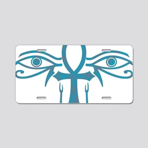 AnkhHorus1 Aluminum License Plate