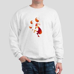Kokopelli with Yin Yang Red Sweatshirt