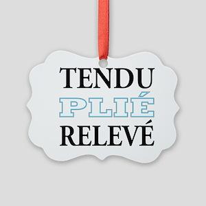 tendu_blue_outline Picture Ornament