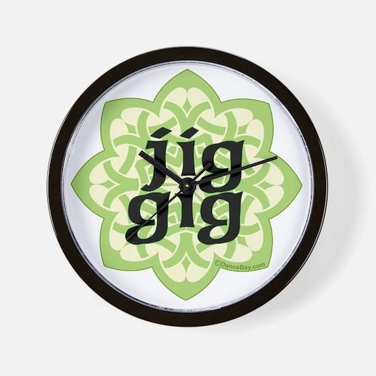 jig gig dark for irish dance gifts by d Wall Clock