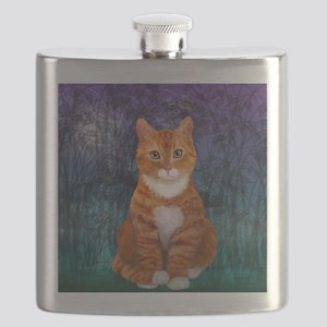 Orange Tabby Cat Flask