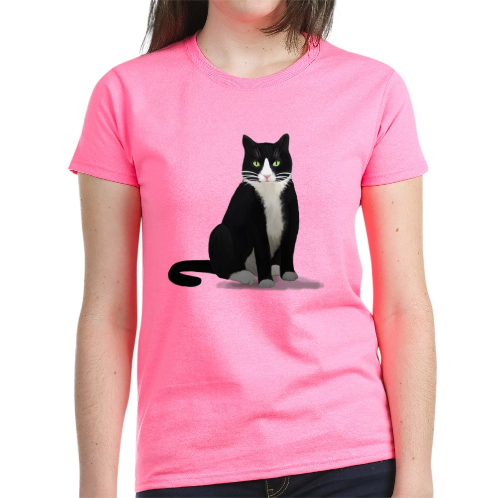 CafePress-Tuxedo-Kitty-Cat-Women-039-s-Dark-T-Shirt-Womens-T-Shirt-1092773842 thumbnail 24