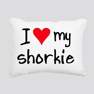I LOVE MY Shorkie Rectangular Canvas Pillow