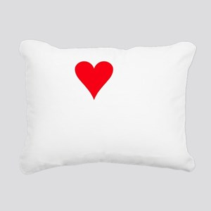 iheartpoochon_black Rectangular Canvas Pillow