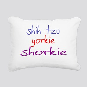 shorkie_black Rectangular Canvas Pillow