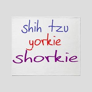 shorkie_black Throw Blanket
