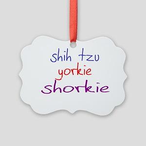 shorkie_black Picture Ornament