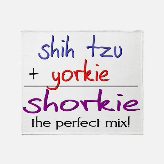 shorkie Throw Blanket