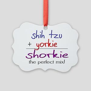 shorkie Picture Ornament