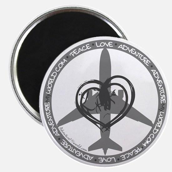Peace Love Adventure - Gray Magnet