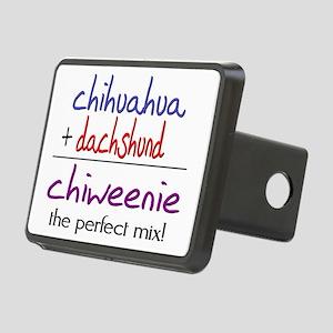 chiweenie Rectangular Hitch Cover