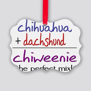 chiweenie Picture Ornament