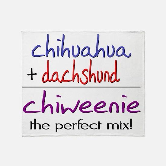chiweenie Throw Blanket
