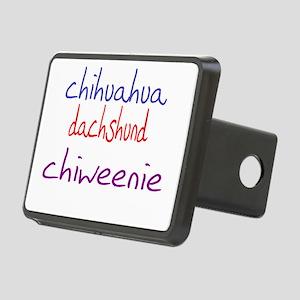 chiweenie_black Rectangular Hitch Cover
