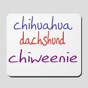 chiweenie_black Mousepad