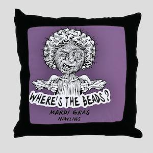 wheres-beads-CRD Throw Pillow