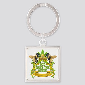 queen tshirt Square Keychain