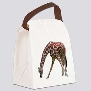 giraffeCutOut Canvas Lunch Bag