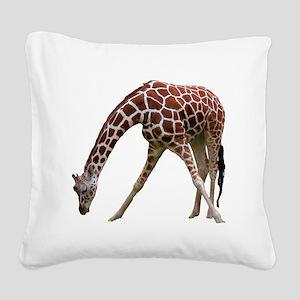 giraffeCutOut Square Canvas Pillow