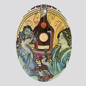 443 Mucha Bene Oval Ornament
