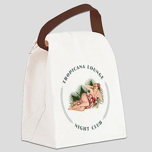 Tropicana Lounge 2 whte Canvas Lunch Bag