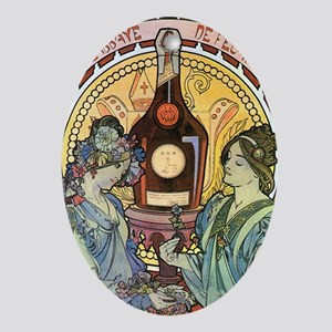 441 Mucha Bene Oval Ornament