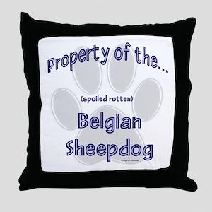 Belgian Sheepdog Property Throw Pillow